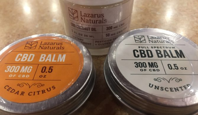 Lazarus CBD lotions and balms