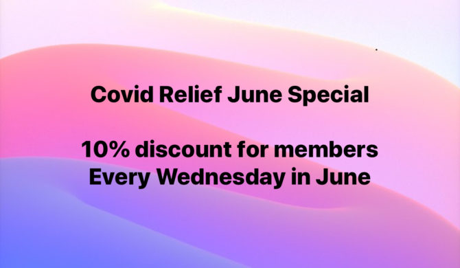 Covid June Wednesday's 10% Discount Specials